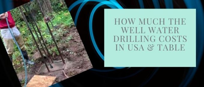 Drilling costs for well water in the USA regions