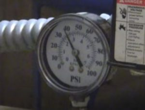 Adjust the well water pressure