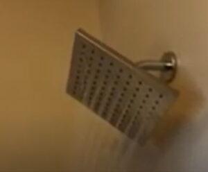 water saving head in shower