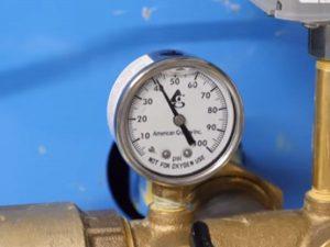 maintenance of water pressure