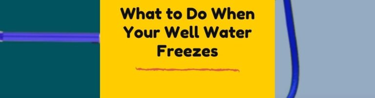 how to fix well-water freezing problem